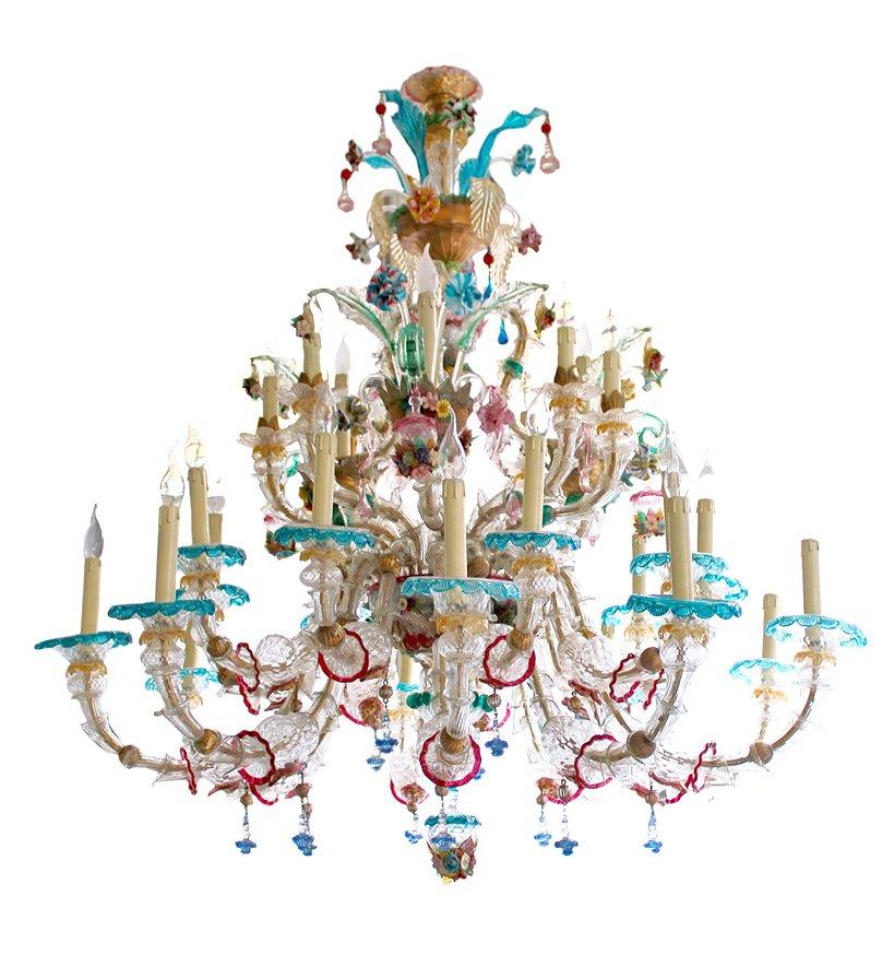 Antique Venetian Murano Glass Chandelier - Antique Venetian Murano Glass Chandelier For Sale At Pamono