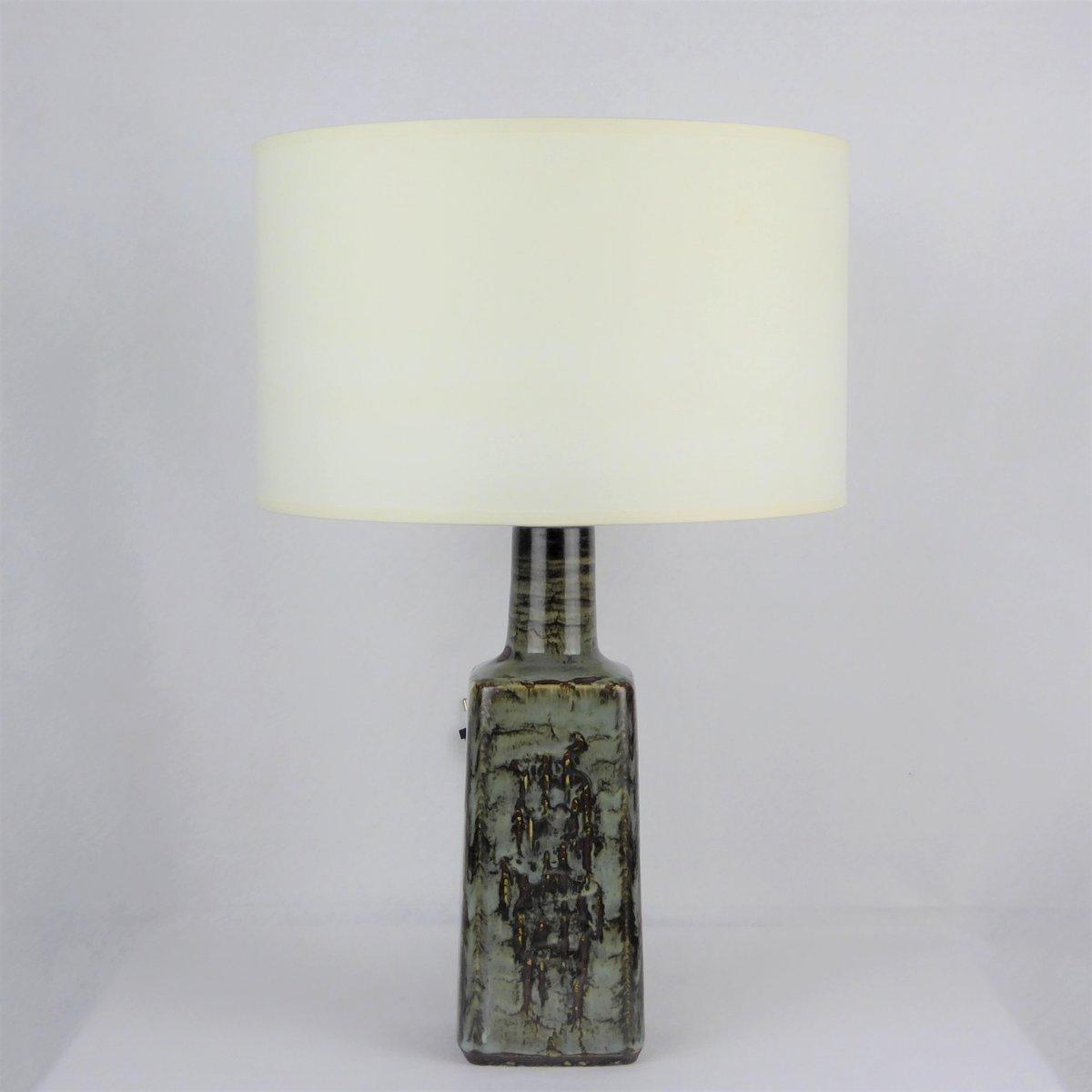 Dänische Keramik Tischlampe von Désirée Stentoj, 1960er