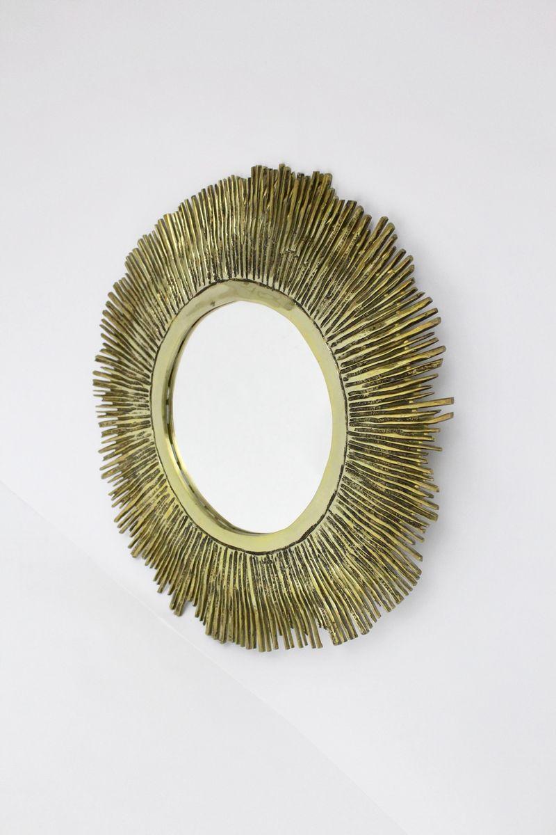 Specchio a forma di sole in ottone francia anni 39 60 in vendita su pamono - Specchio a forma di sole ...