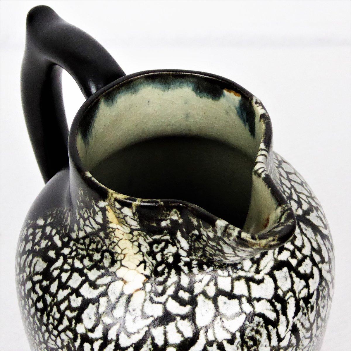 keramik vase in schwarz wei von leon pointu 1930er bei pamono kaufen. Black Bedroom Furniture Sets. Home Design Ideas