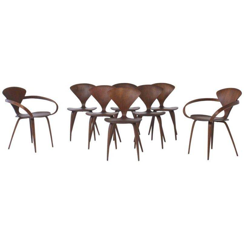 Dining Chairs By Norman Cherner For Plycraft, 1960s, Set Of 8