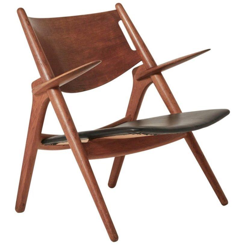 CH28 Armlehnstuhl von Hans Wegner, 1950er