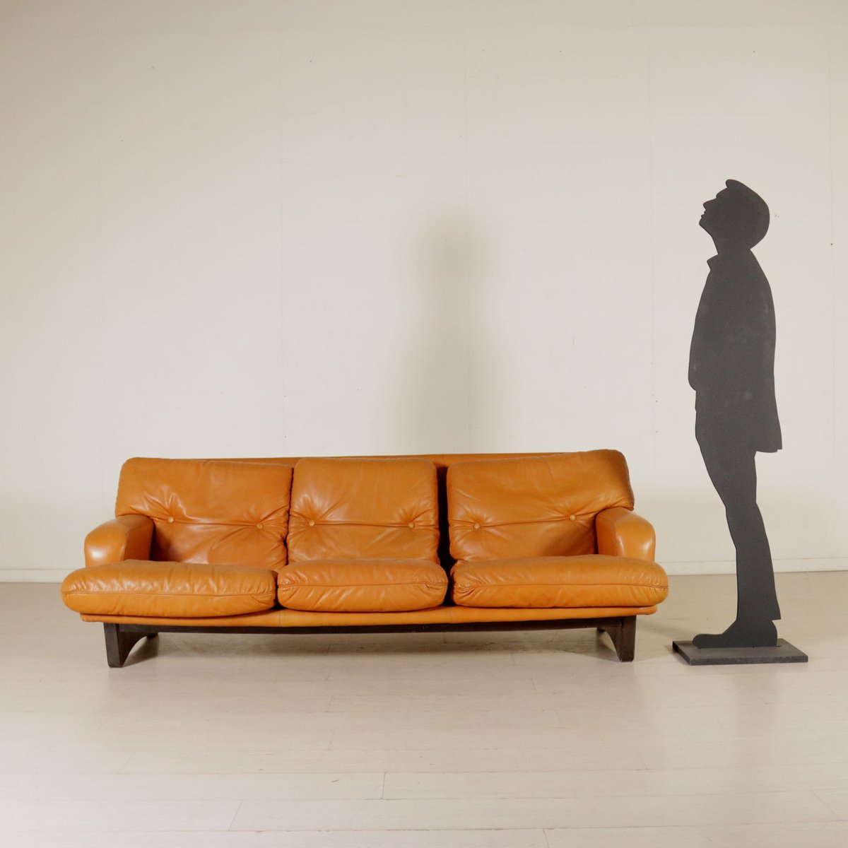 Superieur Leather U0026 Foam Padding Sofa, 1960s
