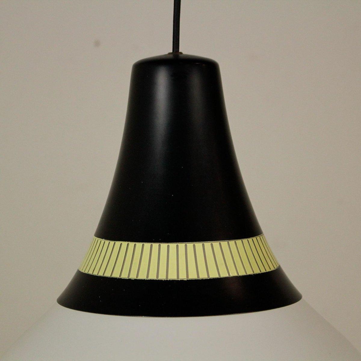 Lampada da soffitto in vetro e alluminio laccato di Stilnovo, anni '60 in vendita su Pamono