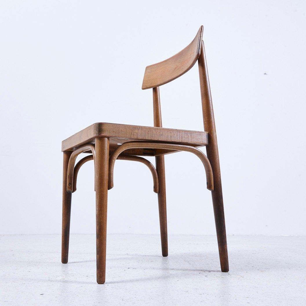 vintage holz stuhl 1950er bei pamono kaufen. Black Bedroom Furniture Sets. Home Design Ideas