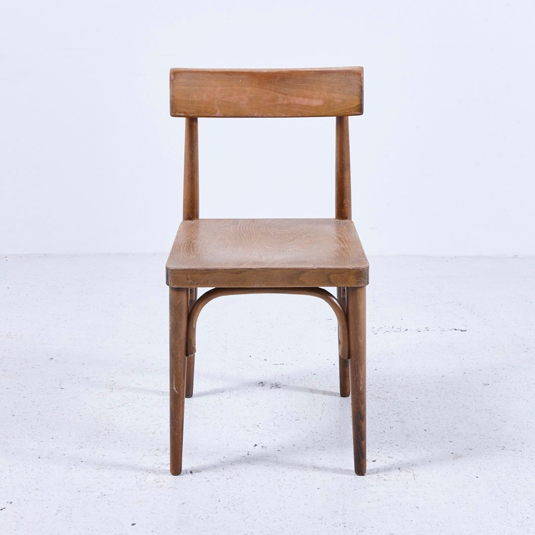 Superbe Vintage Wooden Chair, 1950s