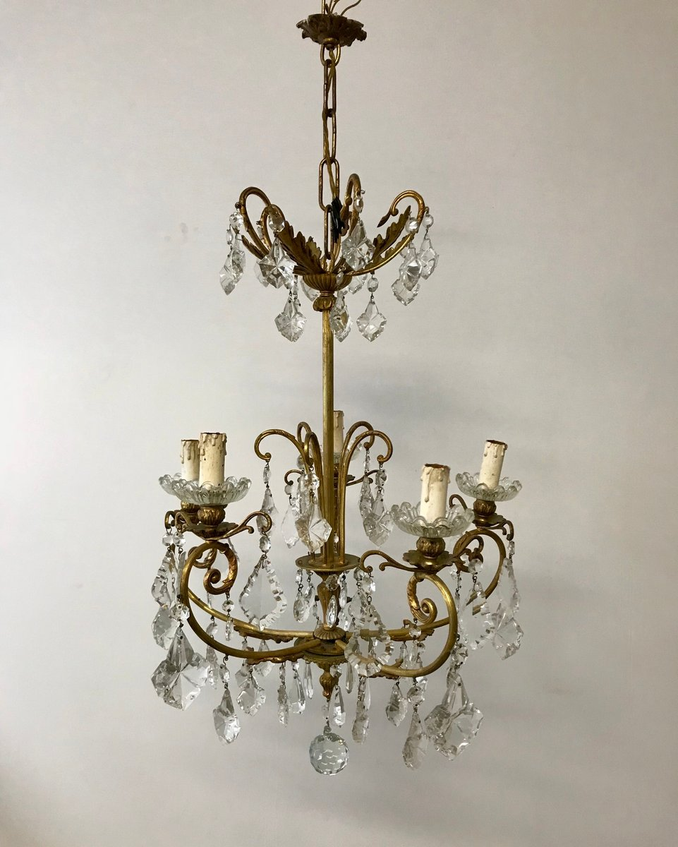 Crystal Chandelier Sale: Vintage French Crystal Chandelier For Sale At Pamono