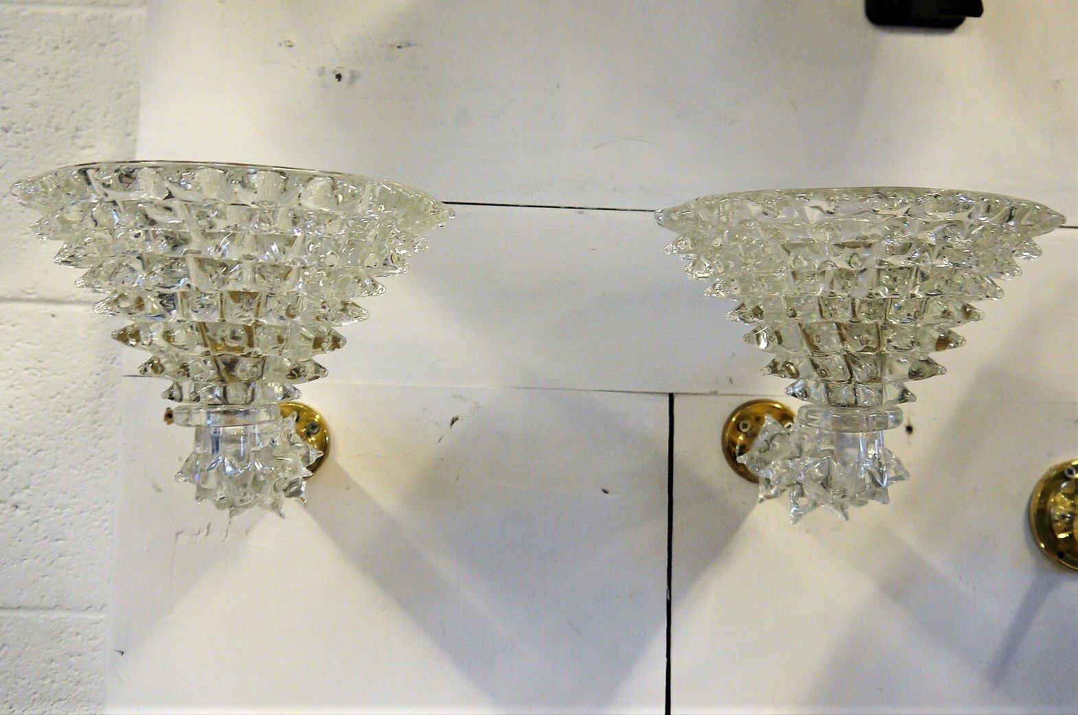 Vintage Wandlampen von Ercole Barovier, 2er Set