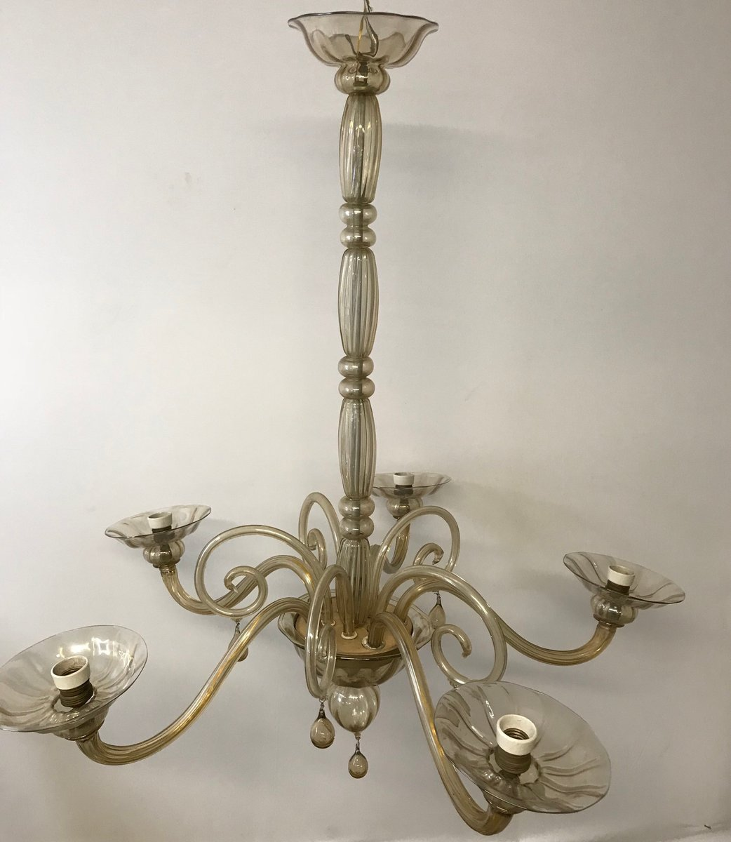 Murano Chandelier Australia: Vintage Murano Glass Chandelier From Venini For Sale At Pamono