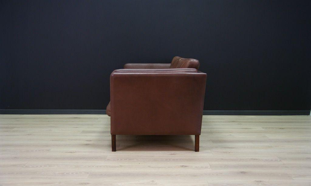 d nisches vintage sofa aus leder bei pamono kaufen. Black Bedroom Furniture Sets. Home Design Ideas