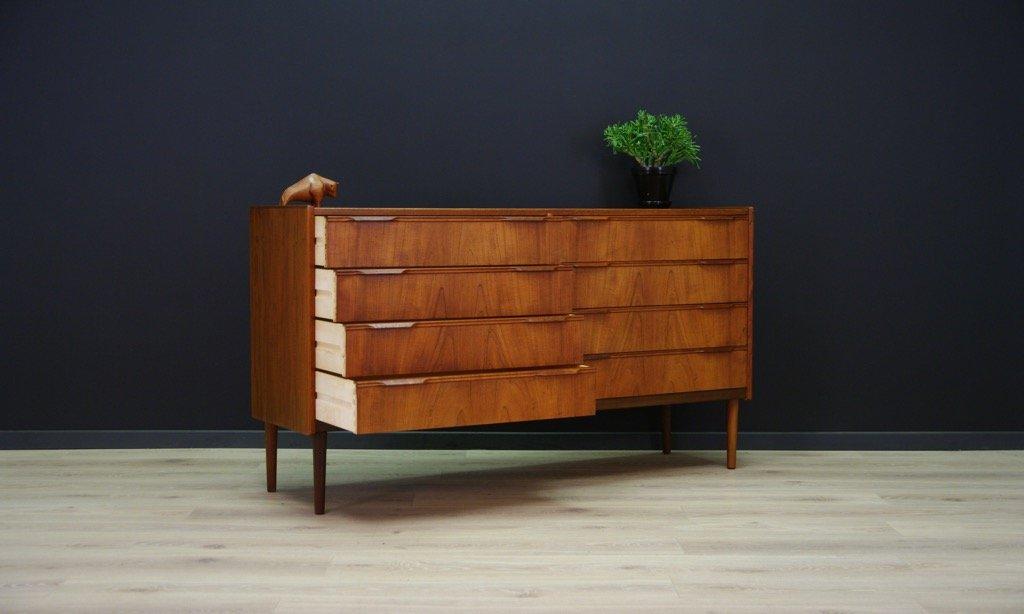d nische vintage teak furnier kommode bei pamono kaufen. Black Bedroom Furniture Sets. Home Design Ideas