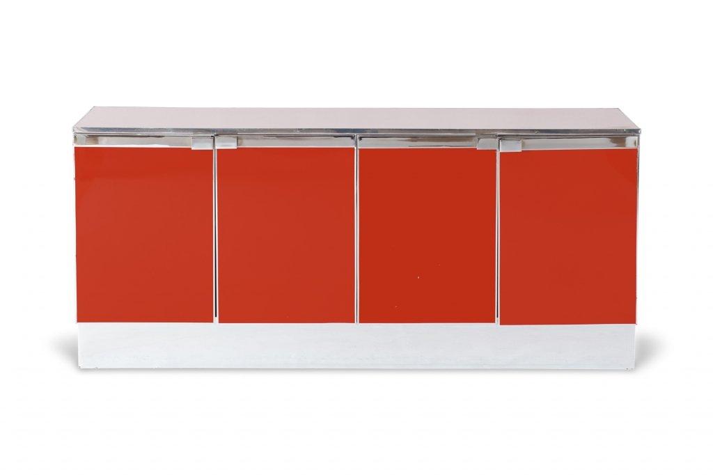 Credenza Moderna Rossa : Credenza in metallo cromato rosso anni vendita su pamono
