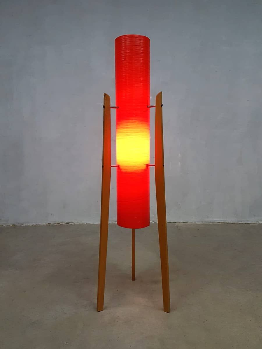 Tschechische Vintage Rocket Dreibein Lampe von Novoplast
