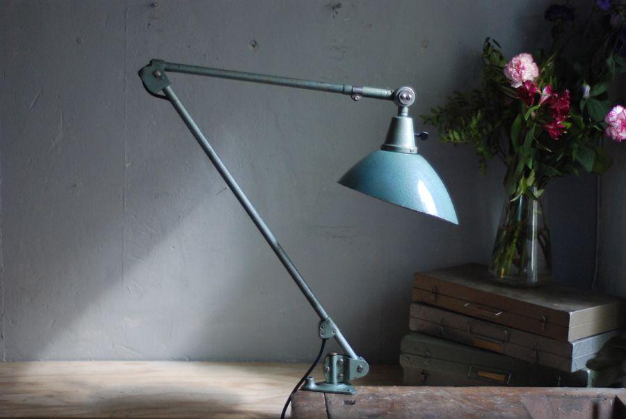 Türkise vintage Schreibtischlampe von Curt Fischer für Industriewerke ...
