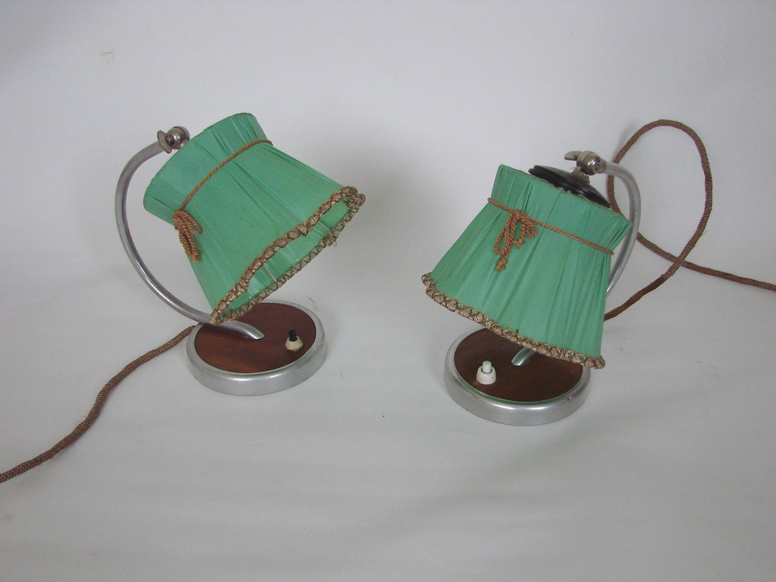 Nachttischlampen, 1950er, 2er Set