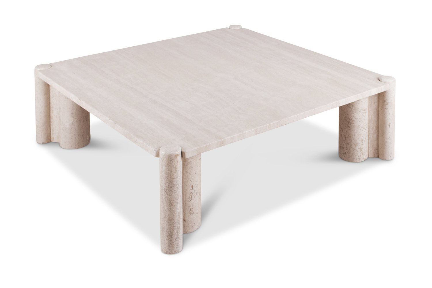 Travertine Coffee Table By Gae Aulenti