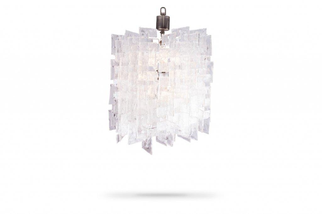 Großer Glas Kronleuchter von Carlo Nason für Mazzega