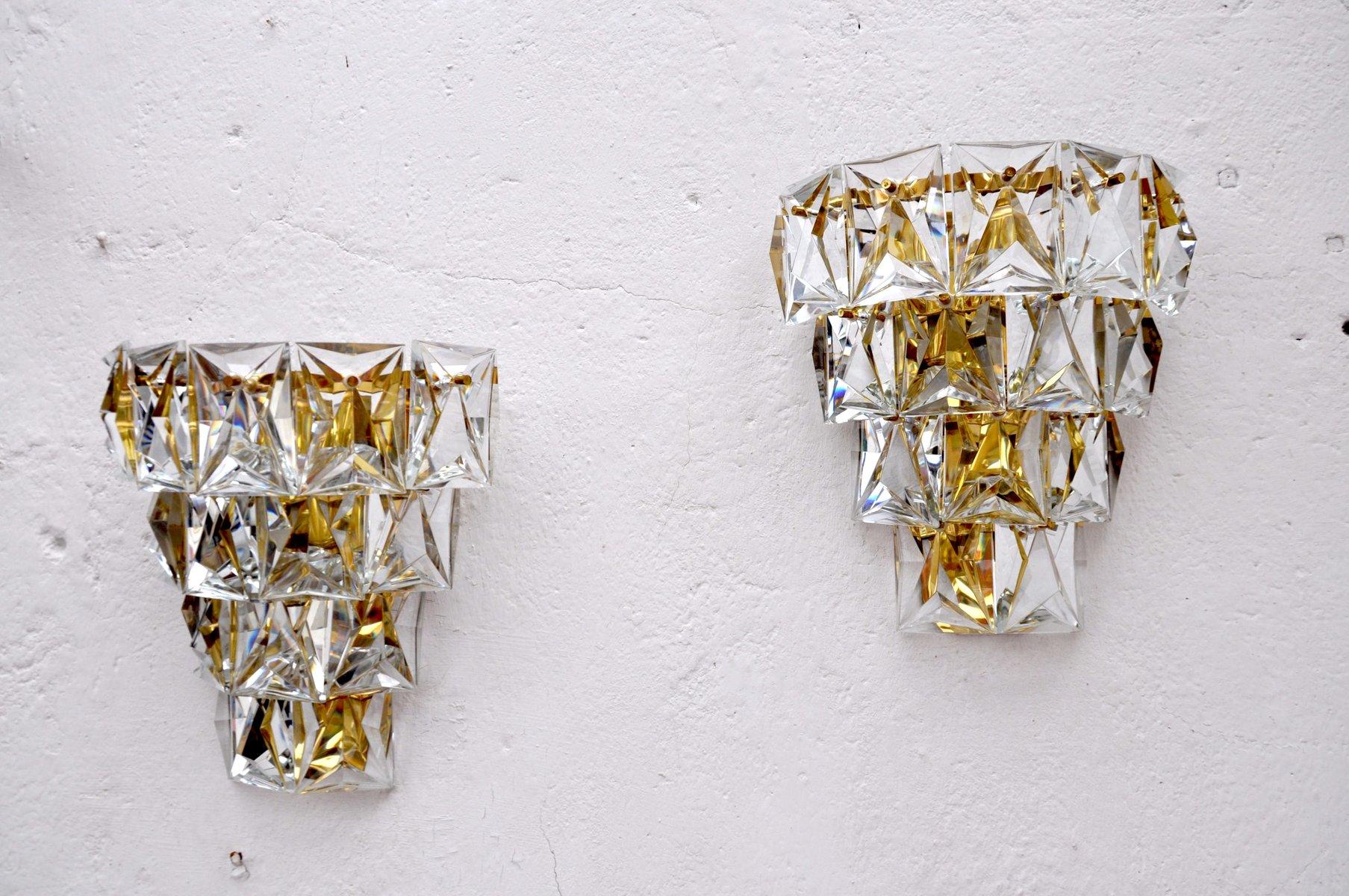 Mid-Century Wandlampen von Kinkeldey, 2er Set
