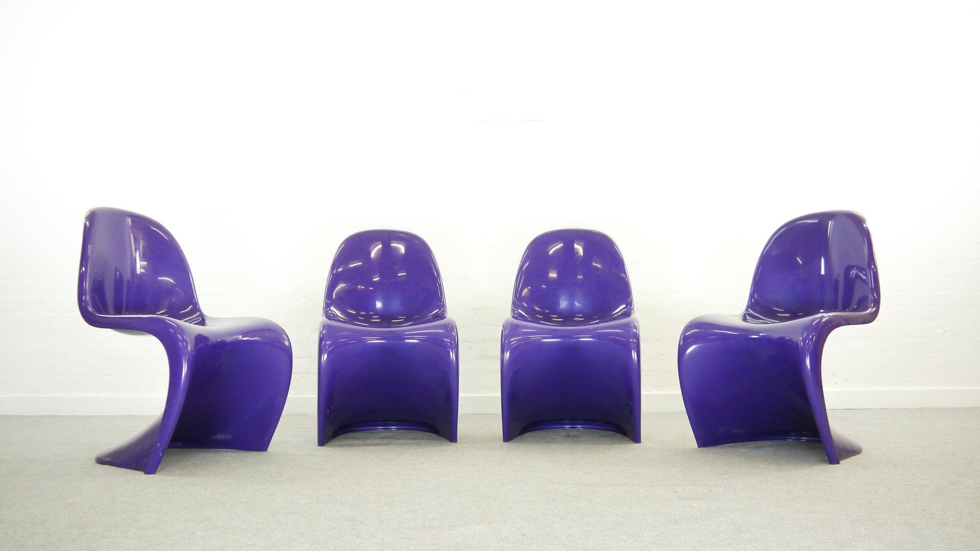 st hle von verner panton f r fehlbaum herman miller 1974 4er set bei pamono kaufen. Black Bedroom Furniture Sets. Home Design Ideas
