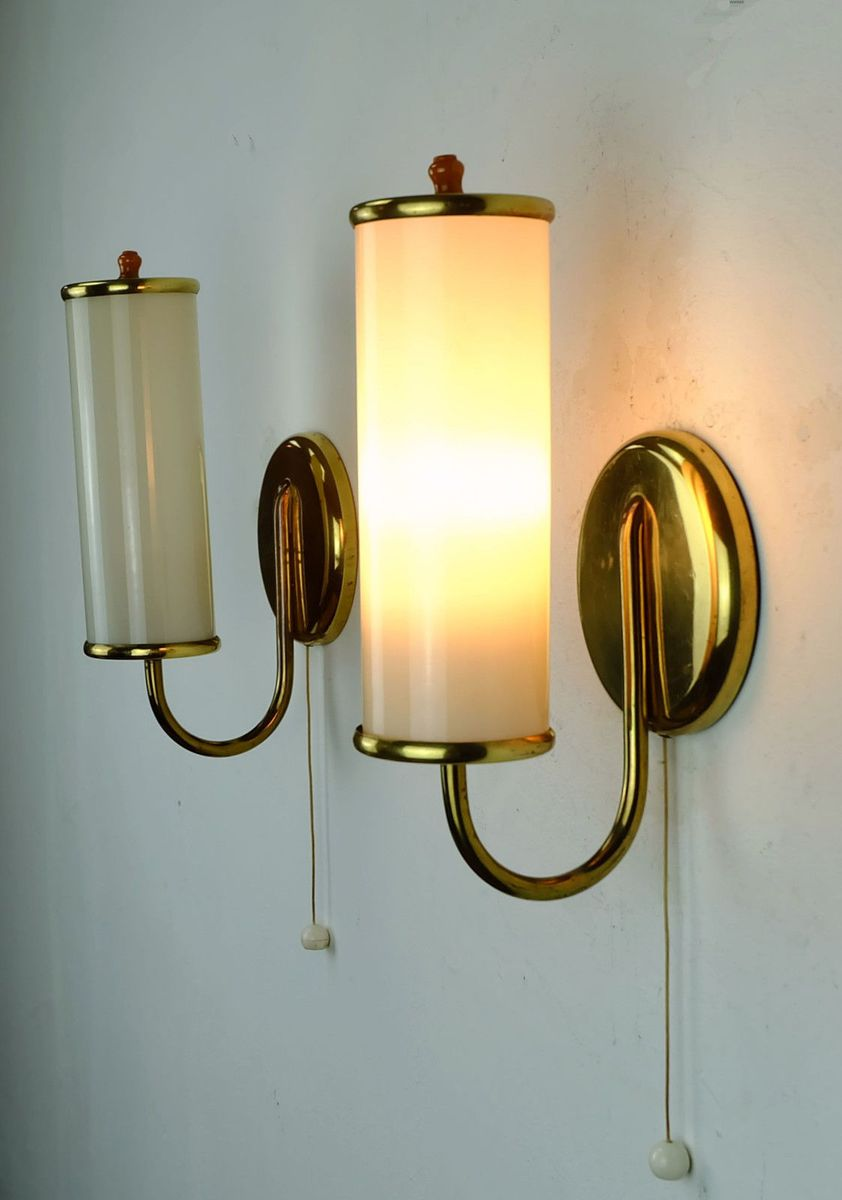 Art Deco Wall Lamps, Set of 2 for sale at Pamono