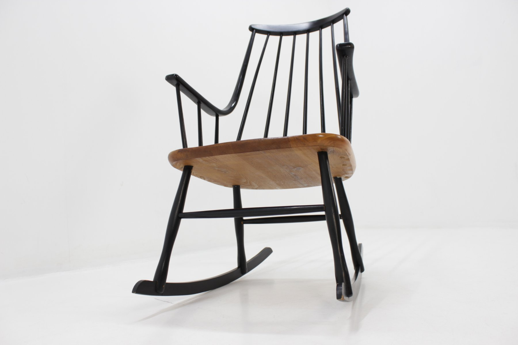 rocking chair grandessa scandinave par lena larsson pour nesto 1958 en vente sur pamono. Black Bedroom Furniture Sets. Home Design Ideas