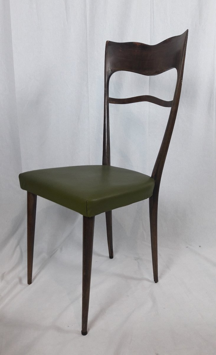 Merveilleux Dining Chairs With High Backs, 1950s, Set Of 6