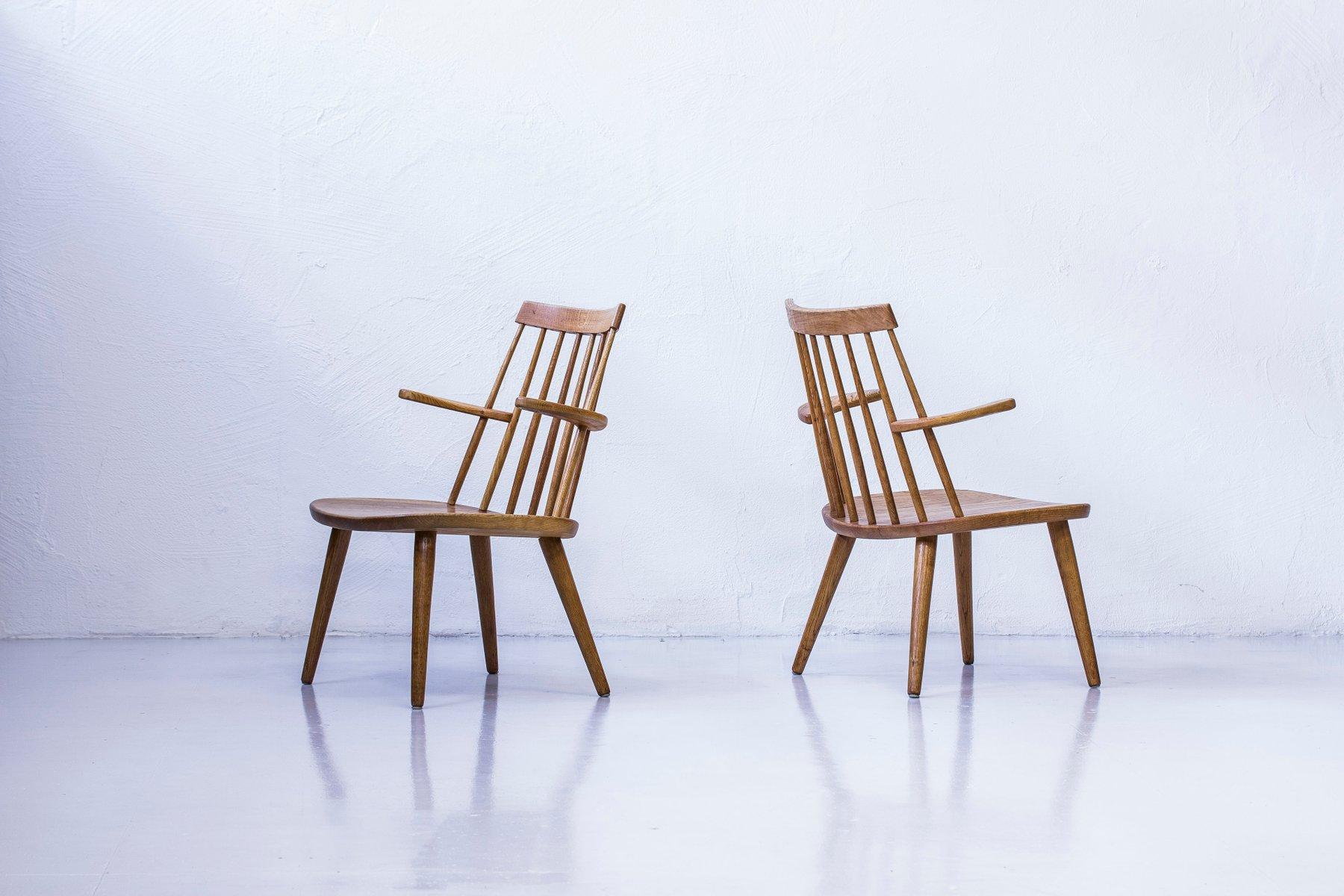 Sibbo Loungette Stühle von Yngve Ekström für Stolab, 1950er, 2er Set