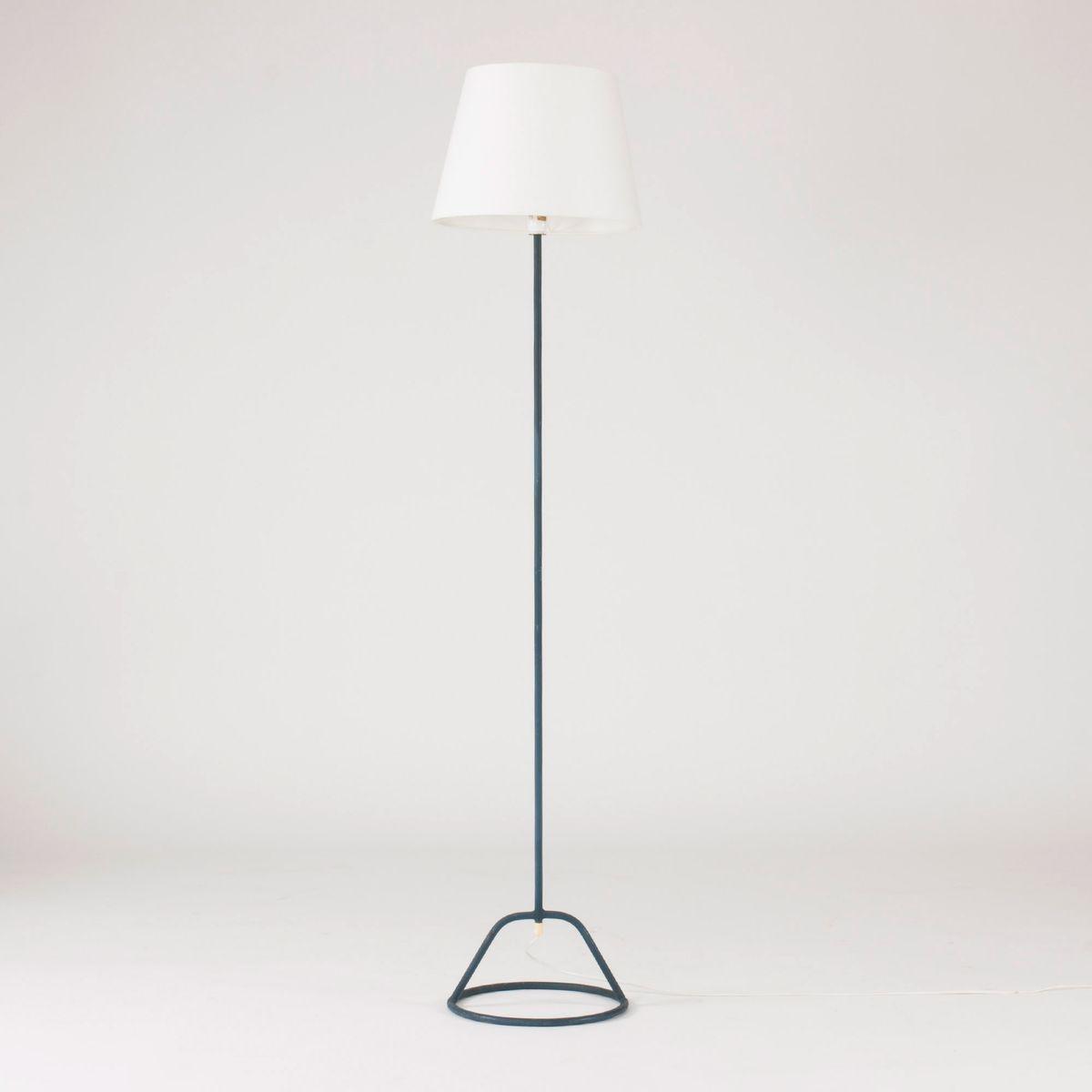 Blaue Stehlampe von Bertil Brisborg für Nordiska Kompaniet, 1950er