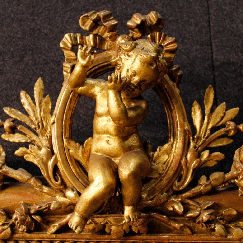 franz sischer antike goldener spiegel 1880er bei pamono kaufen. Black Bedroom Furniture Sets. Home Design Ideas