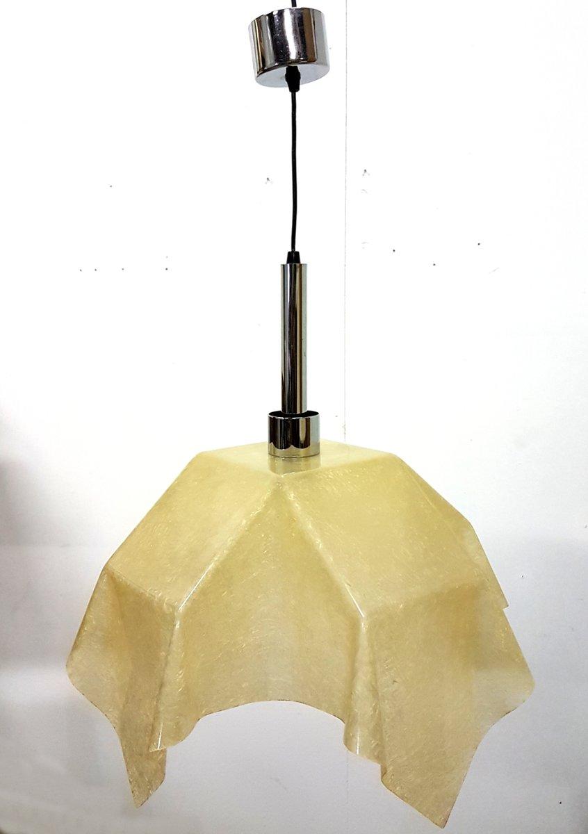 Fazzoleto Fiberglas Lampe von Salvatore Gregorietti für Valenti, 1960e...