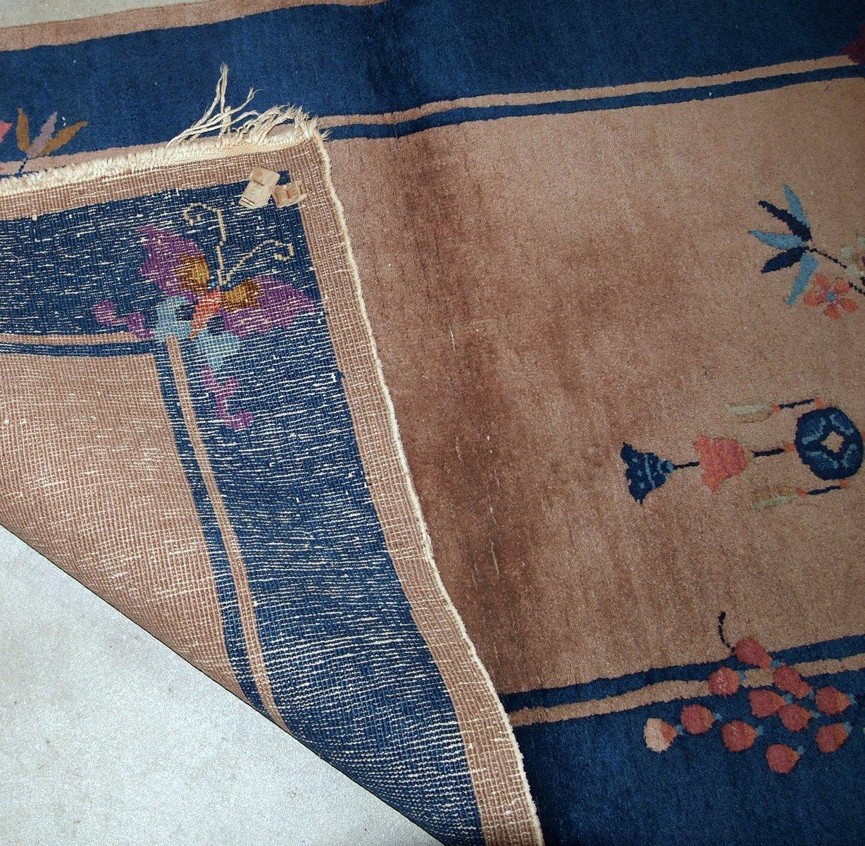 chinesischer handgefertigter art deco teppich 1920er bei pamono kaufen. Black Bedroom Furniture Sets. Home Design Ideas