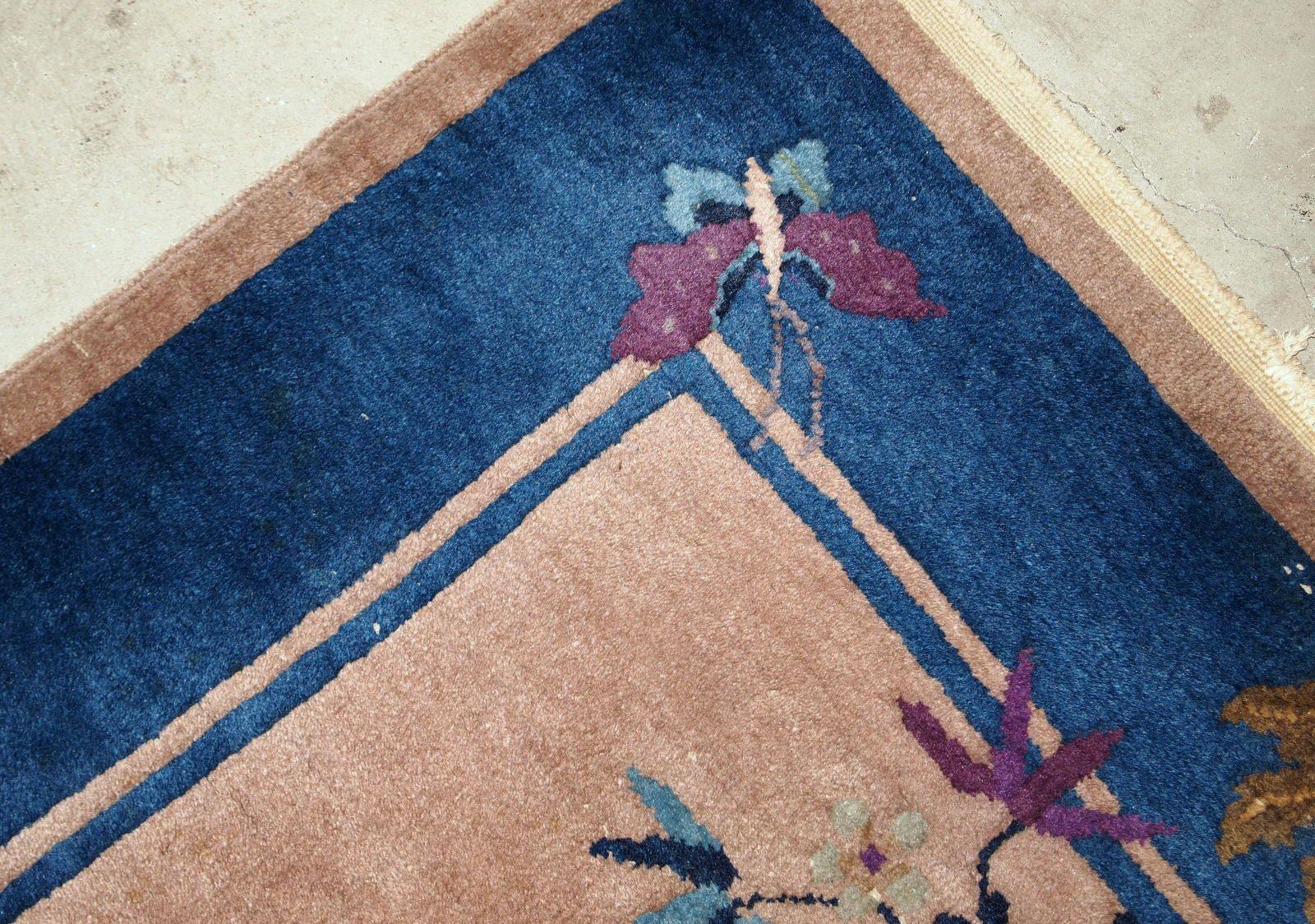 Chinesischer handgefertigter art deco teppich 1920er bei - Art deco teppich ...