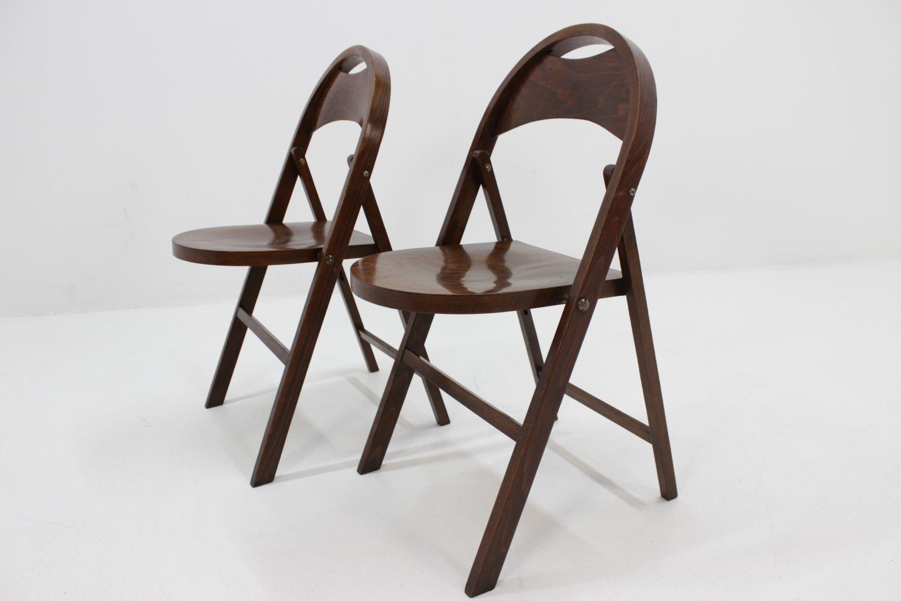 chaises pliables bauhaus b 751 de thonet 1930s set de 2 - Chaises Pliables