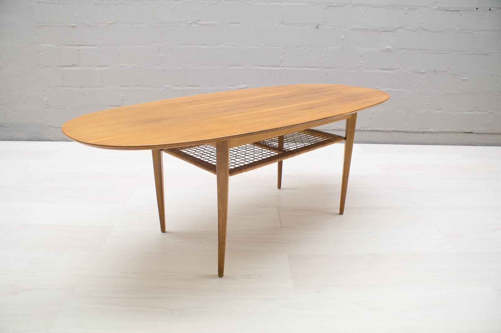 Mid Century Oval Coffee Table 1950s For Sale At Pamono