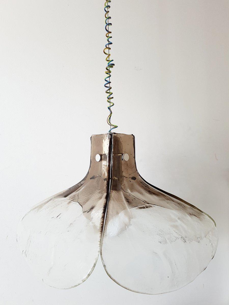 Mid-Century Eisglas Deckenlampe von J. T. Kalmar für Franken KG, 1960e...
