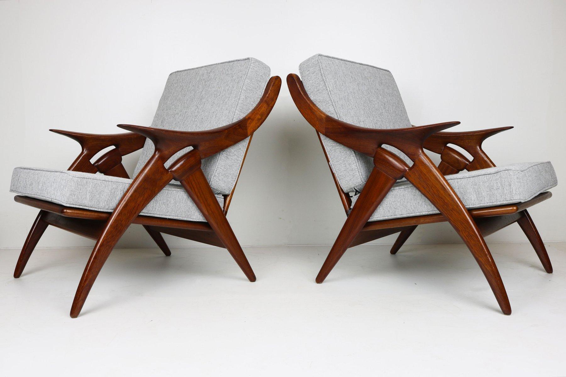 De Knoop Teak Sessel von De Ster Gelderland, 2er Set