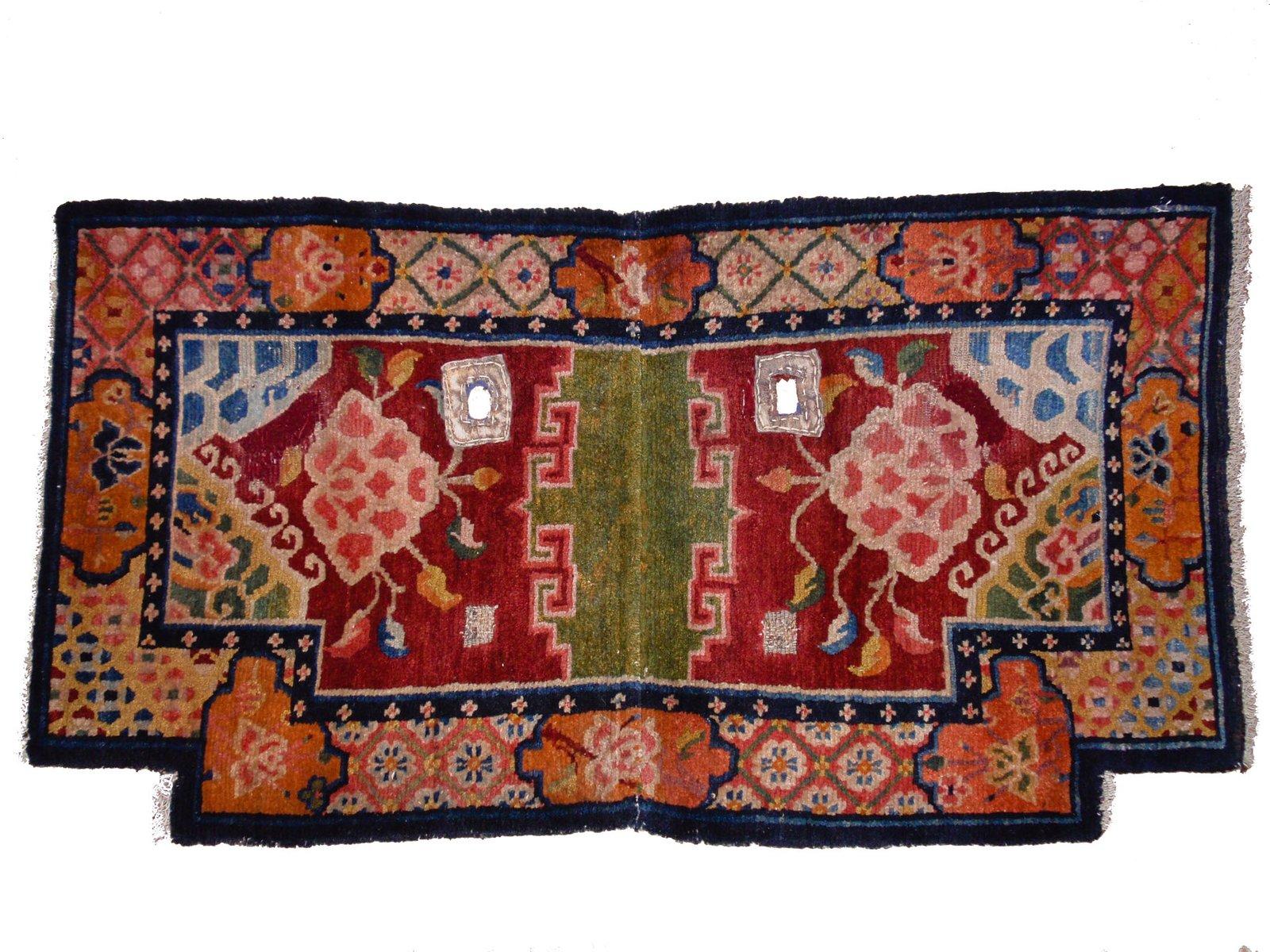 Handgearbeiteter tibetischer Sattel Teppich mit...