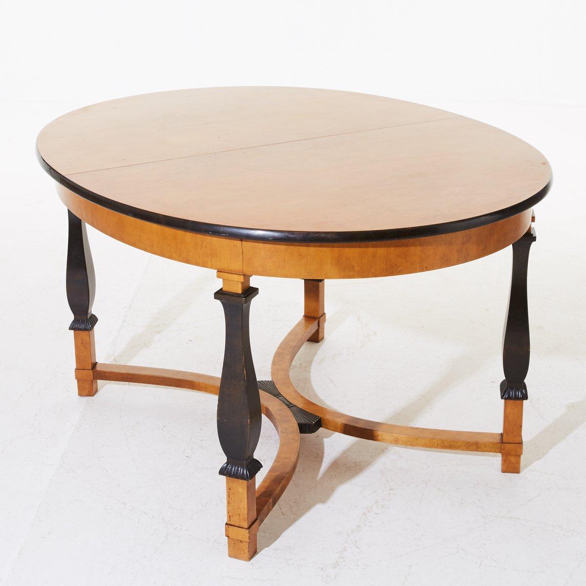 Haga Extendable Oval Dining Table By Carl Malmsten For Nordiska Kompaniet 1920s