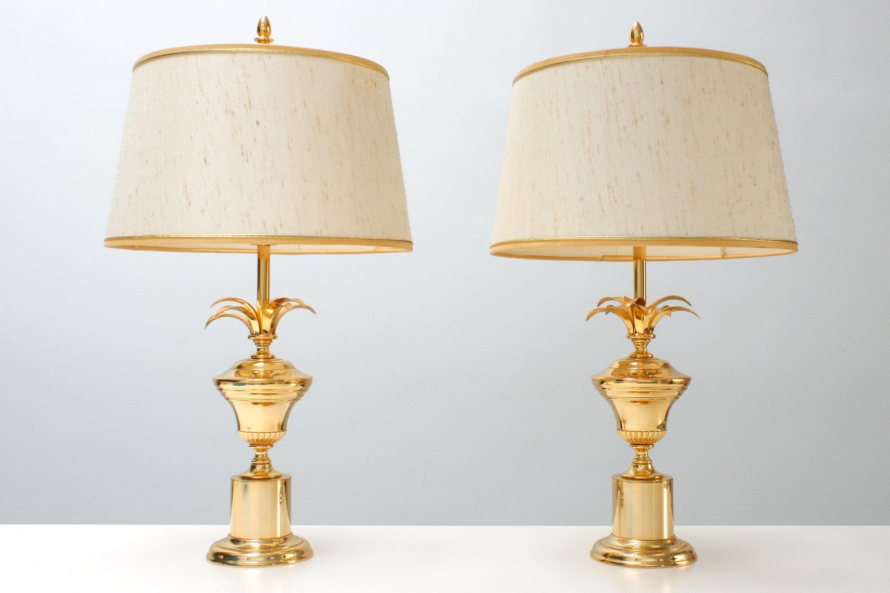 Messing Regency Reed Lampen von Massive, 1970er, 2er Set