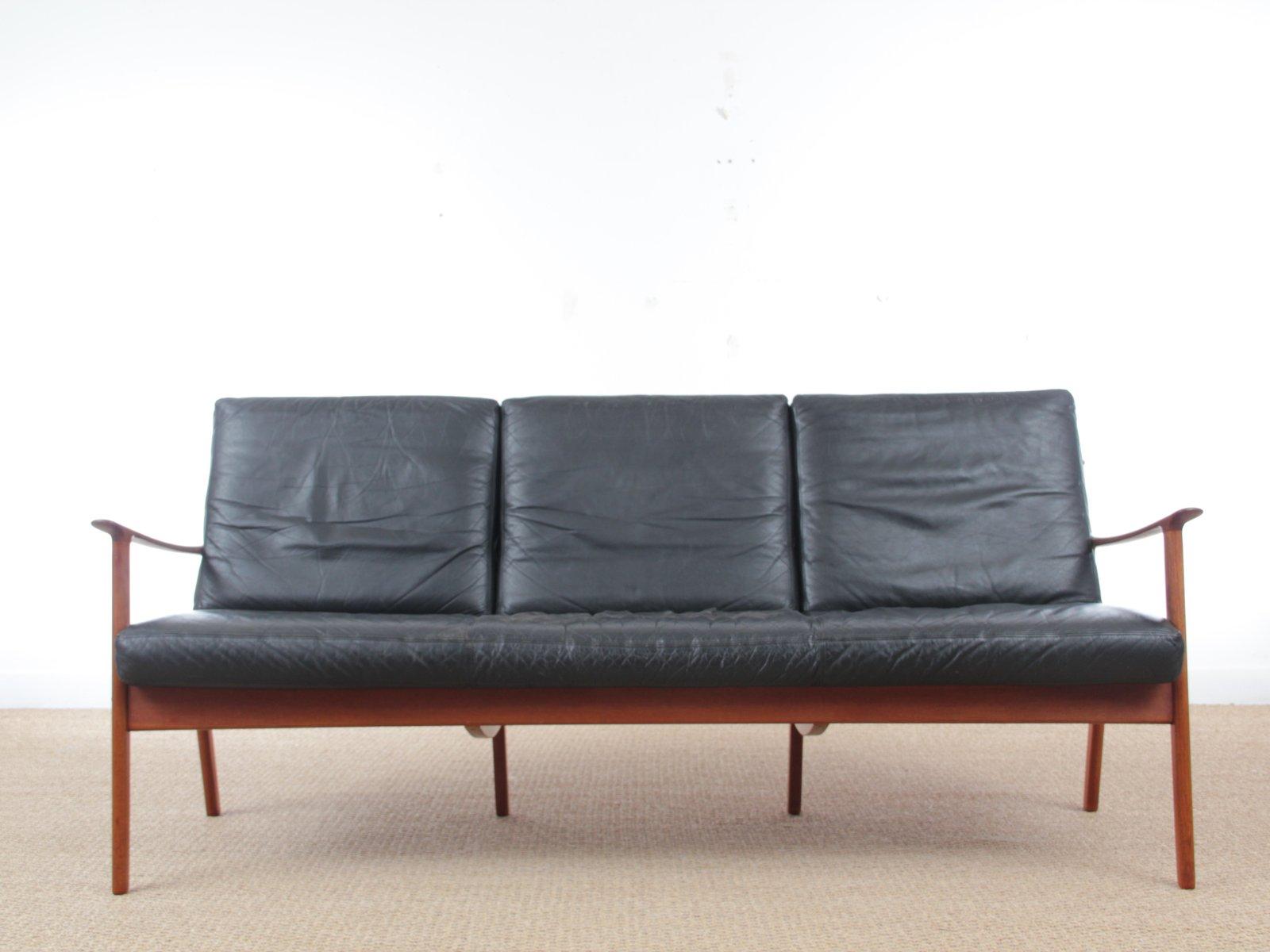 sofa von ole wanscher f r poul jeppesens m belfabrik 1950er bei pamono kaufen. Black Bedroom Furniture Sets. Home Design Ideas