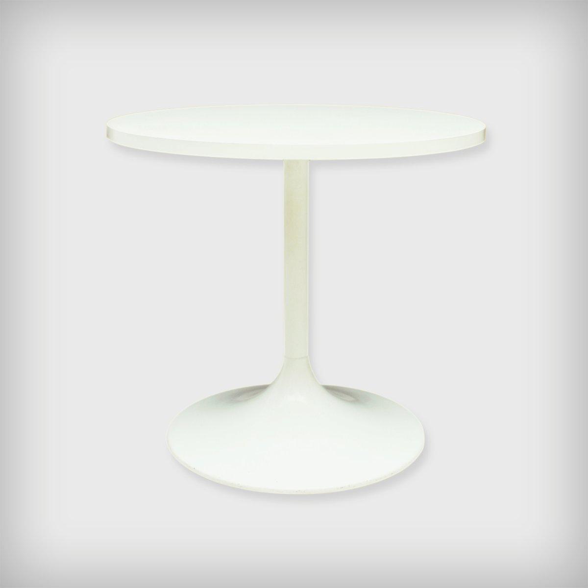 table d appoint mod le 3665 tulipe blanche de ilse m bel 1970s en vente sur pamono. Black Bedroom Furniture Sets. Home Design Ideas