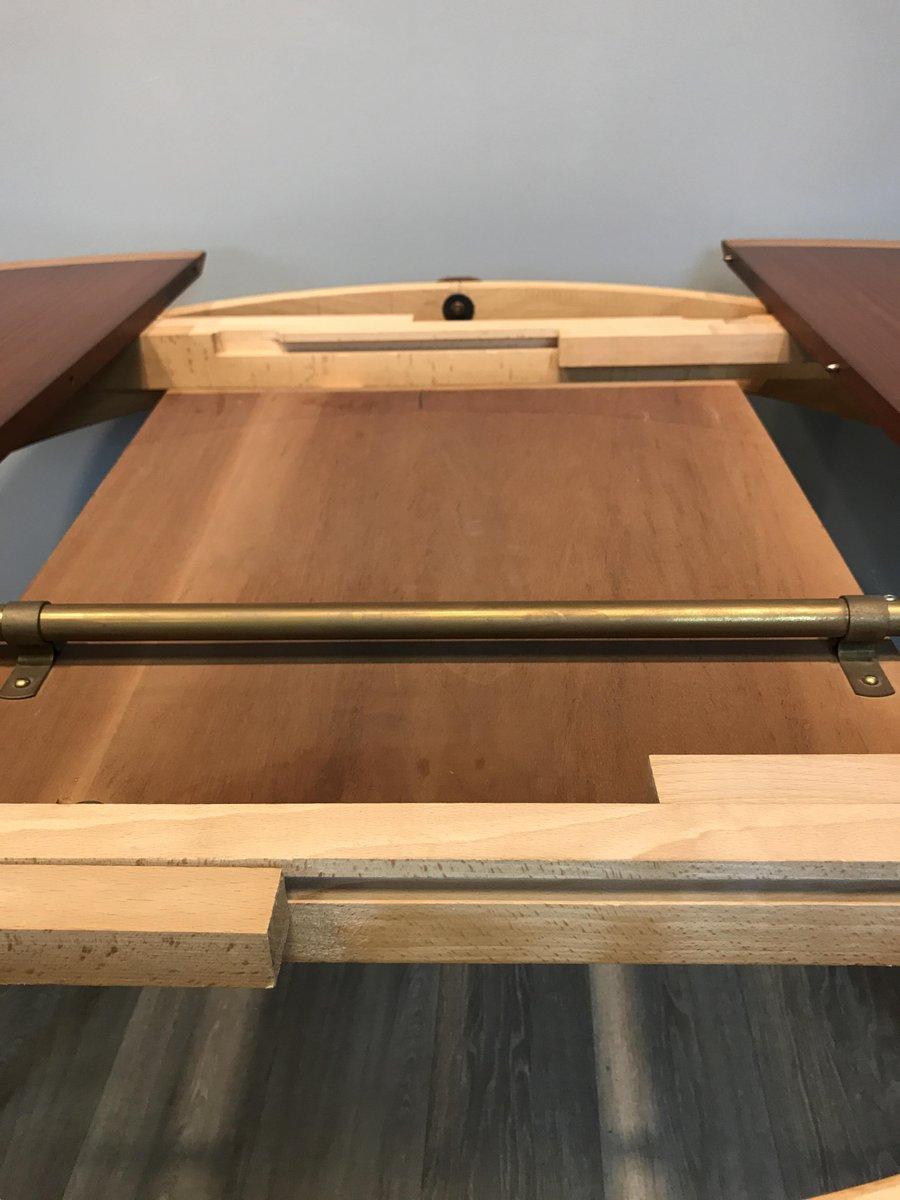 Tavolo allungabile rotondo con sedie di l bke anni 39 60 - Tavolo allungabile con sedie ...