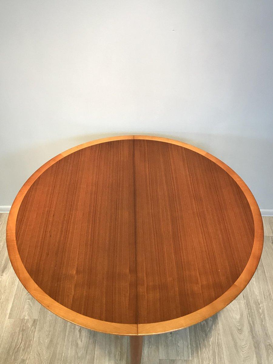 ausziehbarer runder tisch mit 6 st hlen von l bke 1960er bei pamono kaufen. Black Bedroom Furniture Sets. Home Design Ideas