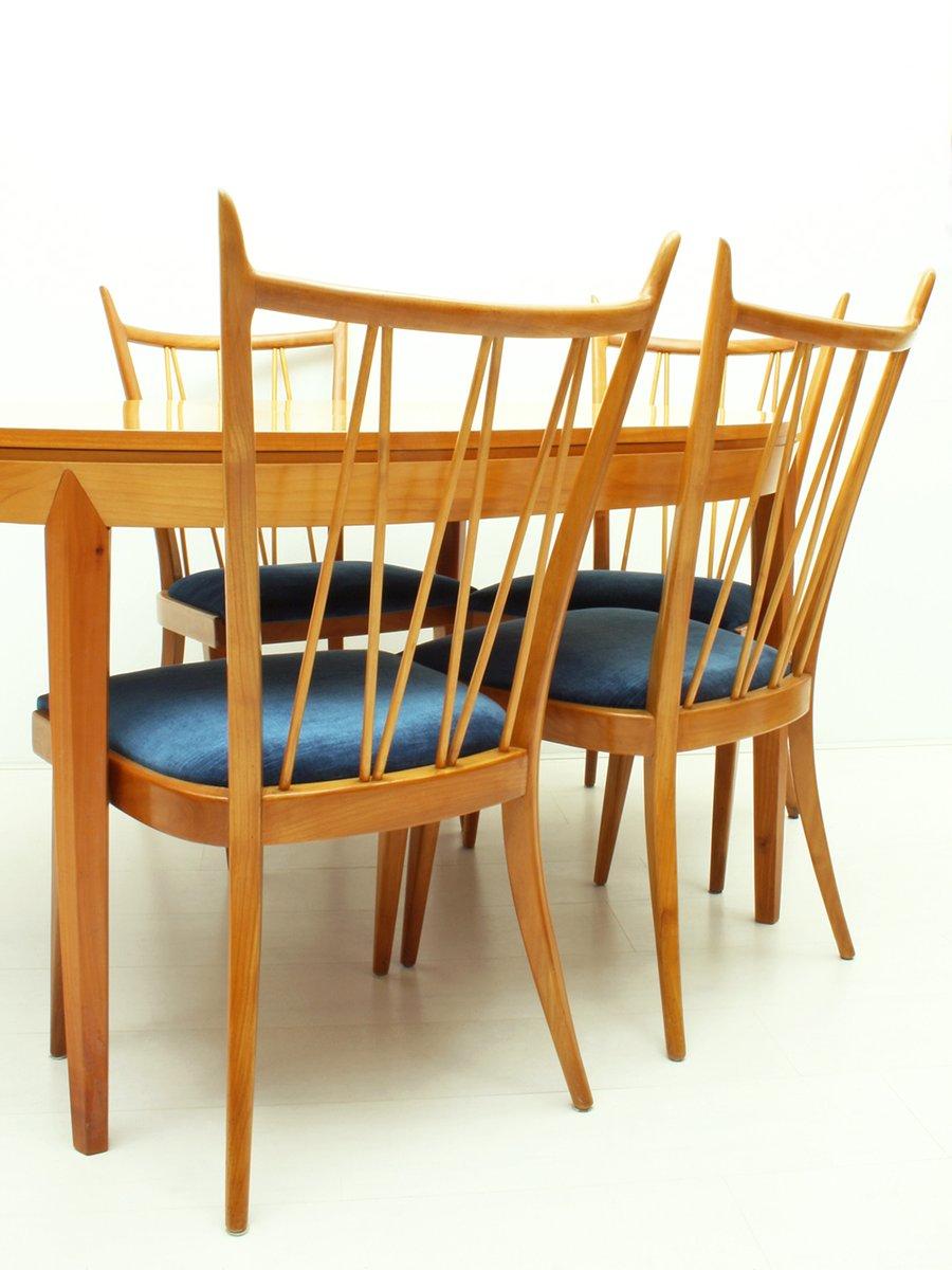 Tavolo da pranzo allungabile in legno di ciliegio anni for Tavolo pranzo allungabile legno