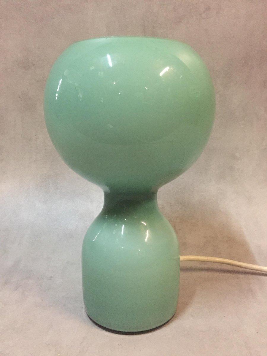 Hellgrüne mundgeblasene Glas Tischlampe von Jean-Paul Edmonds-Alt für ...