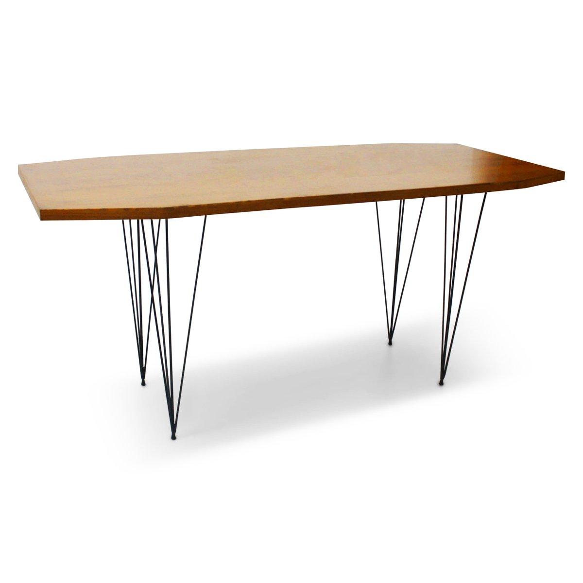 italienischer vintage tisch mit hairpin beinen bei pamono kaufen. Black Bedroom Furniture Sets. Home Design Ideas