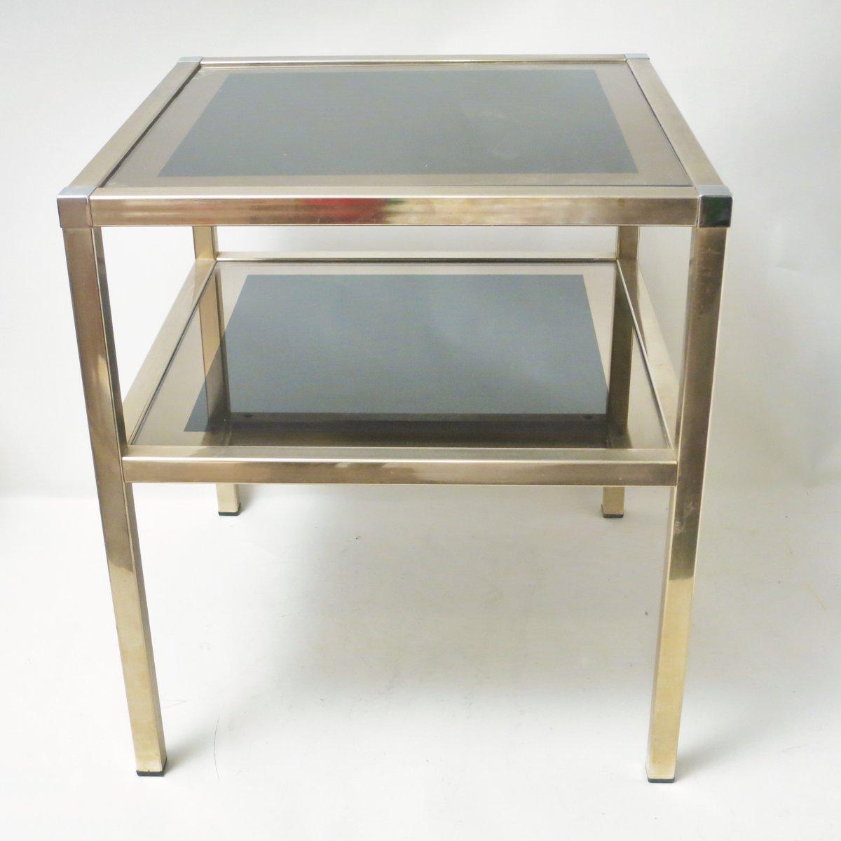 messing beistelltisch von maison charly fr res 1970er bei pamono kaufen. Black Bedroom Furniture Sets. Home Design Ideas