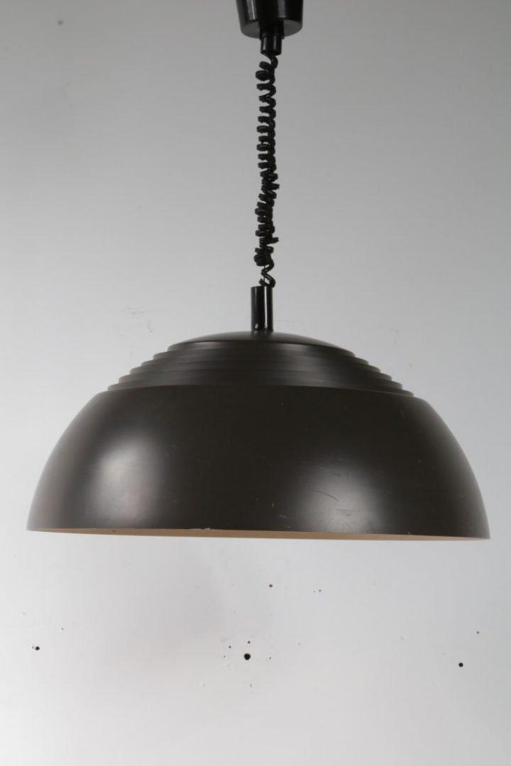 Metall Hängelampe von Arne Jacobsen für Louis Poulsen, 1960er