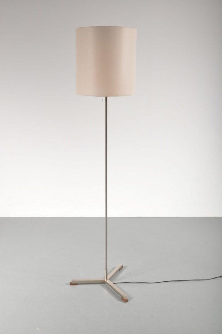 Modernistische niederländische Stehlampe von W. Hagoort, 1960er
