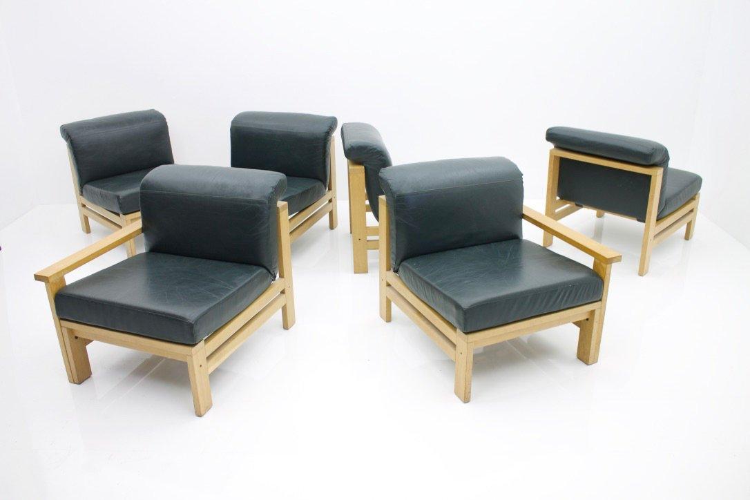 canap modulable vintage en cuir en vente sur pamono. Black Bedroom Furniture Sets. Home Design Ideas